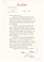 Letter from Eva Gabor to Thea and Robert Muldoon, 1982 (Archives New Zealand) Tags: evagabor robertmuldoon losangeles politics politicians unitedstates actress hungary muldoon