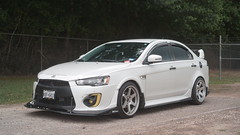 DSC05495 (clubtgc) Tags: 2017 mitsubishi lancer 2016 stance time attack custom white wide body ex function over form stanced
