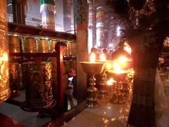 Gandan/19 (Cath Forrest) Tags: mongolia ulaanbaatar religion buddhist gandan monastery temple candles golden interior