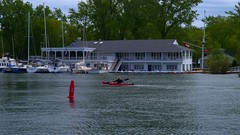 058 -1crpvibfwlcon (citatus) Tags: kayak kayaker paddling queen city yacht club qcyc algonquin island wards ferry terminal toronto canada islands spring afternoon 2019 pentax k1 ii