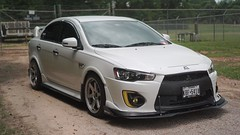 DSC05517 (clubtgc) Tags: 2017 mitsubishi lancer 2016 stance time attack custom white wide body ex function over form stanced