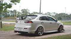 DSC05512 (clubtgc) Tags: 2017 mitsubishi lancer 2016 stance time attack custom white wide body ex function over form stanced
