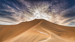 Peruvian sandscape (Chas56) Tags: landscape peru huacachina southamerica canon canon5d3 dune sanddune sunset travel scale