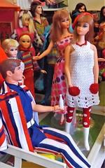 CROCHET COOL (ModBarbieLover) Tags: mod barbie living 1971 mattel doll fashion crochet polkadot house toy ken red white titian