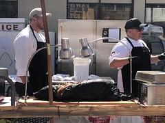 Chefs with pig (sarahstierch) Tags: thegreateldoradobbq brewsbluesfestival2019 reno nevada chefs cook pig barbecue