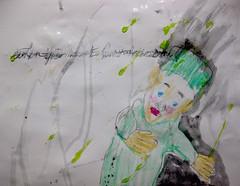 Edgar, The Dethroner (giveawayboy) Tags: pencil crayon eraser erasure water acrylic paint drawing painting art fch tampa artist giveawayboy billrogers glitter glue edgar dethroner