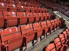 Calgary Stampede Corral. (jasonwoodhead23) Tags: calgary arena alberta seats cs wood red