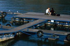 Floating dock on Danube (lumpy79) Tags: pentax me smc 135 fuji provia 100f smcpk135mmf35 floating dock danube