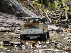 Jeep in the Creek (captain_joe) Tags: toy spielzeug 365toyproject lego minifigure minifig car auto jeep 6wide strangerthings wasser water bach creek 75810 chevrolet k5