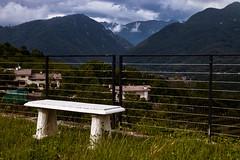 Tarcento (::ErWin) Tags: tarcento provinzudine italien clouds mountain wolken berg italy italia bench bank zaun fence