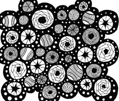 abstract12 (TrailheadArtisan) Tags: blackandwhite art drawing doodle ink markers design abstract pattern line circles round