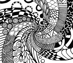 abstract14 (TrailheadArtisan) Tags: blackandwhite art drawing doodle ink markers design abstract pattern line curves spiral