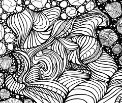 abstract15 (TrailheadArtisan) Tags: blackandwhite art drawing doodle ink markers design abstract pattern line curves undulate wavy space