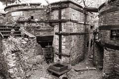 Strictly No Climbing (Tom Levold (www.levold.de/photosphere)) Tags: fujixpro2 xf18135mm sw bricks ziegel ruin ruine bw ofen furnace dublin