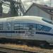 Blue German express train ICE TD 605 006 by Deutsche Bahn
