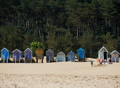 Rare glimpse of the North Norfolk Hut People. (Grooover) Tags: beach huts trees wells next sea norfolk grooover