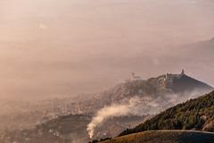 Assisi (Massimo_Discepoli) Tags: assisi town city landscape mist smoke surreal umbria sunset