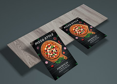Pizza Style - Promotion Flyer (Mohammed.Bakkar) Tags: pizza flyer psd photoshop adobe promotion a4