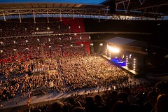 Concert Lights (Future-Echoes) Tags: 4star 2019 audience concert crowds fleetwoodmac lights london red seats stadium wembleystadium