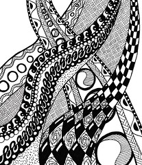 abstract13 (TrailheadArtisan) Tags: blackandwhite art drawing doodle ink markers design abstract pattern line flow curve