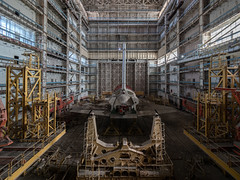 Asleep (NأT) Tags: history buran бура́н bourane cosmodrome baikonour shuttle space universe flight usa nasa soviet cold war urss memories past old decay decayed forgotten forbidden neglected verlassen urbex urban exploration explore inexplore search discover building rotten creepy industrial industriel colors abandoned abandon abandonnée empty nobody alone quiet silence trip travel