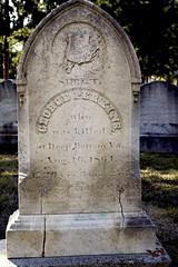 An American Civil War soldier's headstone, High Street Cemetery, Hampton, New Hampshire. (radiorocky) Tags: hampton newhampshire americancivilwar headstone newengland cemetery grave graveyard