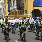 Bike ride - Lima - President Vizcarra was among the cyclists by