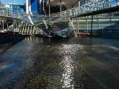 Silver triangel (Zoom58.9) Tags: building water reflection bridge europe germany niedersachsen hannover gebäude wasser reflektion brücke europa deutschland sony