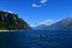 Kite-surfing on Garda Lake (supersky77) Tags: garda lake lago lombardia lombardy lombardie lombardei alps alpi alpes alpen blue