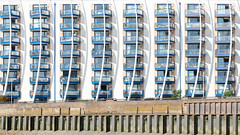 a short story from the bank of the River Thames (ignacy50.pl) Tags: architecture building minimal lines shadows balcony riverbank cityscape urban windows london uk colorful sony