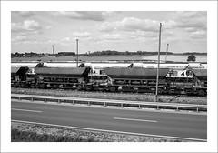 NF90x/XI/24 (Ferdinand Bardamu) Tags: nikonf90x nikkorafd352 35mm 135 kodaktrix400 400tx westsee kieswerk waggon eisenbahn mühlbergelbe elbe brandenburg elbekies