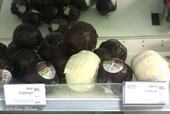 June 9th, 2019 Unwrapped cabbages in Waitrose (karenblakeman) Tags: cabbages redcabbage whitecabbage food supermarket waitrose 2019 2019pad june uk