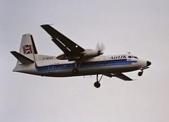 G-BDVS F27 Air UK LHR 19-06-93 (cvtperson) Tags: gbdvs f27 air uk london heathrow lhe egll