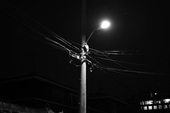 Street Light (glenjoo1984) Tags: web pentax k1 dslr fullframe night street alleyway streetlight blackandwhite monochrome