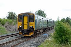 GWR 150246, Wickwar (sgp_rail) Tags: wickwar glos gloucestershire train trainspotting station road rail railway nikon d7000 june 2019 summer morning trains gwr great western dmu sprinter multiple unit class 150 150246 2o86