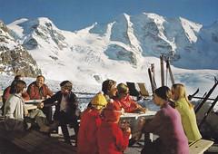 Postkarte / Schweiz (micky the pixel) Tags: postkarte postcard ephemera schweiz suisse switzerland pontresina diavolezza bergrestaurant kantongraubünden grischun landschaft landscape gebirge mountains alpen alps oberengadin