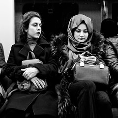 Istanbul (ale neri) Tags: street bw people girls turkish aleneri metro istanbul underground turkey streetphotography blackandwhite alessandroneri batis225