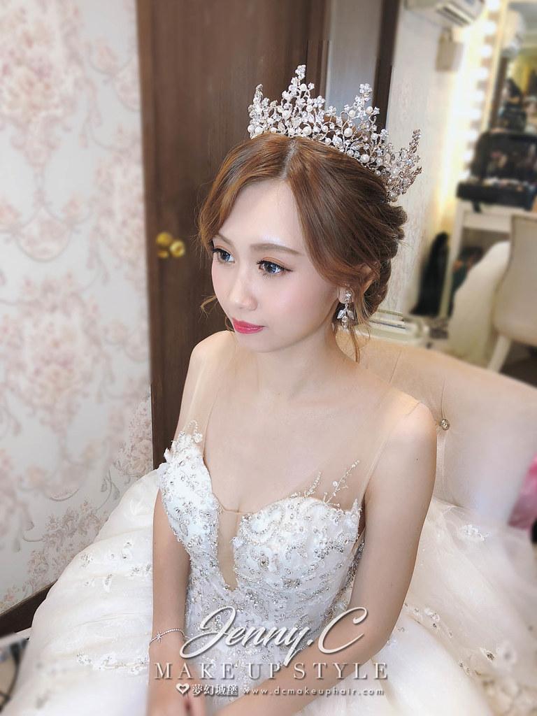 【新秘蓁妮】bride佩芸 訂婚造型 / 台北徐家堡婚宴會館