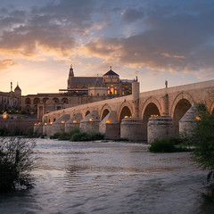 Over the Water (Blueocean64) Tags: bridge sunset water architecture cordoba longexposure light sky cloud river spring spain outdoor perspective panasonic g5 ciel andalusia nuages 旅游 extérieur coucherdesoleil 欧洲 艺术 美丽 摄影 blueocean64