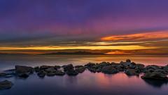 Rocky Sunset (Star Wizard) Tags: magna utah unitedstatesofamerica sunset colorful water
