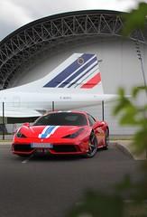 Ferrari 458 speciale et le concorde (frenchcars31) Tags: toulouse avion voiture photo canon photographe photographie car speciale ferrari458 458 ferrari