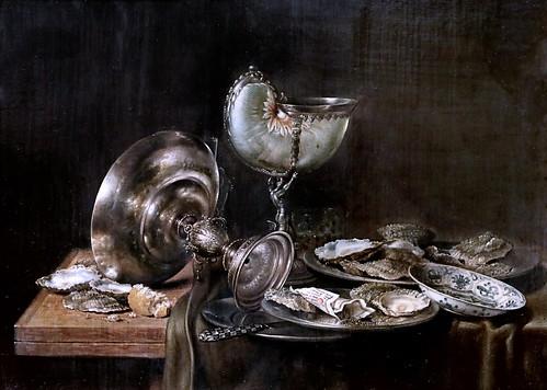 IMG_1230 Willem Claesz Heda 1594-1680 Haarlem Stillleben mit Nautiluspokal  Nature morte avec coupe Nautilus Still life with Nautilus cup 1649 Schwerin. Staatliches Museum