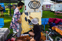 collaborative painting (citymaus) Tags: 2019 untz festival musicfestival art artists mariposa fairgrounds collaborative painting wood panel grain