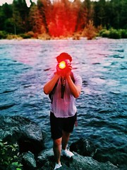 Laser eye. (thnewblack) Tags: huaweip30pro leicaoptics portrait nature outdoors smartphone cameraphone chilliwack britishcolumbia vsco vedderriver