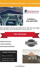 Metal Roof Installation Brampton – Eavesandsiding (Ontario Siding) Tags: metal roof installation