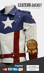 Our-collection-of-Captain-America-leather-jackets (mrstyles137) Tags: captain america leather jacket superhero mens fashion menswear leatherwear