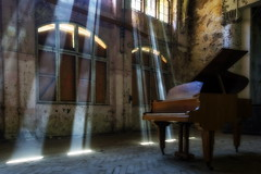 8Z1A4027-HDR-1_DxO (wernkro) Tags: beelitz whitneyhoustonhaus germany krokor klavier sonnenstrahlen lostplace hdr