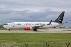 LN-RRE - 2008 build Boeing B737-85P, now a Star Alliance billboard logojet (egcc) Tags: 2586 35706 b737 b73785p b737ng b738 boeing egcc knutviking lnrre lightroom man manchester ringway sas sk scandinavianairlines scandinavianairlinessystem logojet