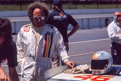 Rick Muther had one of the better helmets in 1975 (brooklandsspeedway) Tags: poconoraceway pocono pennsylvania indycar