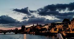 Le Louvre ~  Sunset  ~ Paris ~ MjYj© (MjYj ~ IamJ) Tags: mjyj mjyj© eden paris louvre sunset world woman white ville urban tones time texture temp pont arts sein pontdesarts couple